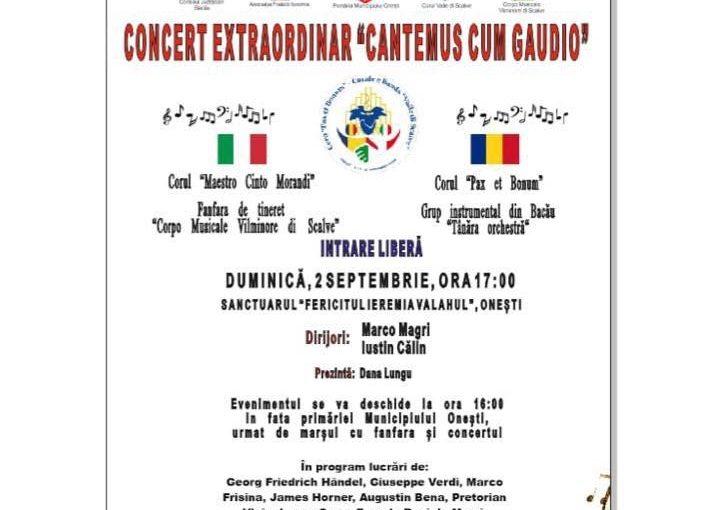 """Concert extraordinar """"Cantemus cum gaudio"""""""